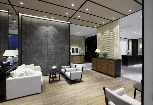 Elegant business clubhouse interior