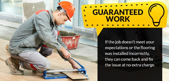 Professional Installation provides Guaranteed work