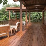 Non-slip wood decking