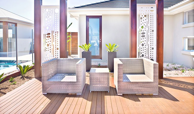 modern outdoor patio furniture set