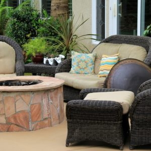 outdoor wicker chairs and couch