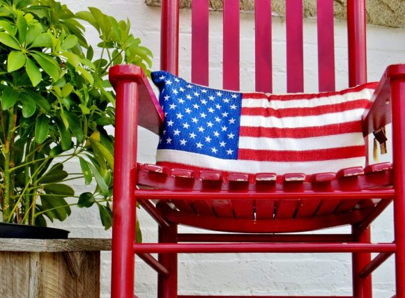 Americana Planters Patriotic Red White /& Blue Home DecorSet of 2New