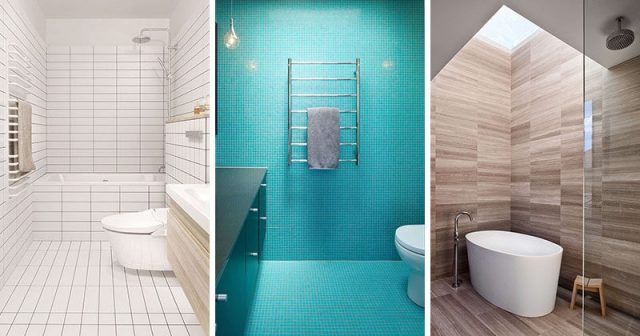 matching floor and wall tiles