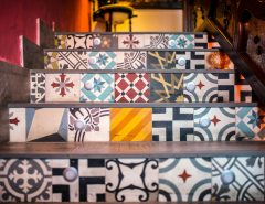 Hand-Painted Glazed Ceramic Tiles