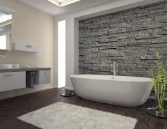 stacked stone veneer on interior walls