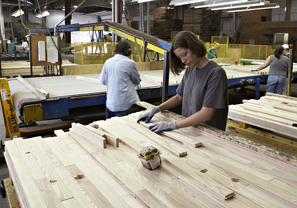 how hardwood flooring is made