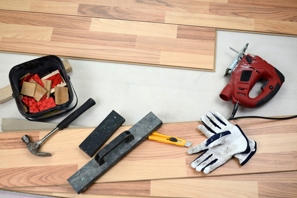 Tools and Materials for bamboo flooring installation