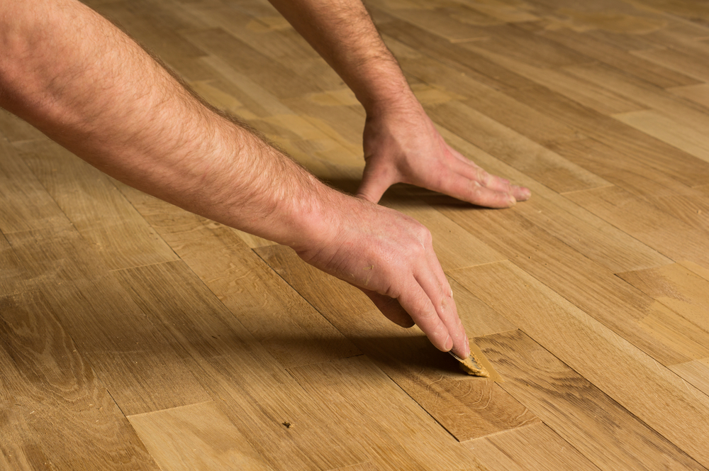 Filling Hardwood Floor