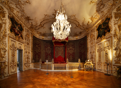 Baroque Room with Wood Floors