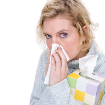 Allergies and Flooring - Woman with handkerchief