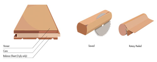 Wood Veneer Sawing Methods
