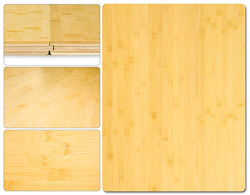 Horizontal Bamboo Flooring, Natural