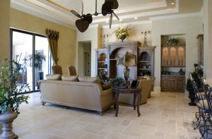antique light travertine tile