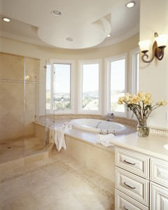 Light Travertine in Bathroom