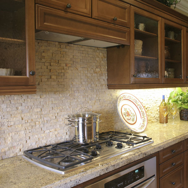 Travertine tile glossary Stone backsplash tile