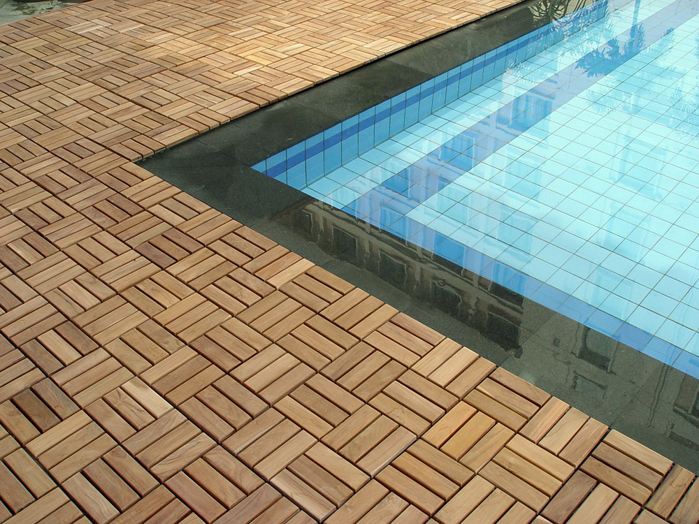 Deck tile pool surround Deck Tiles