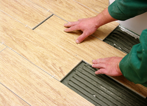 Install Ceramic Tile Wood