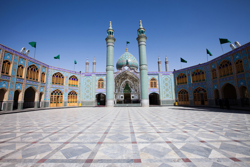 ceramic floor mosque courtyard