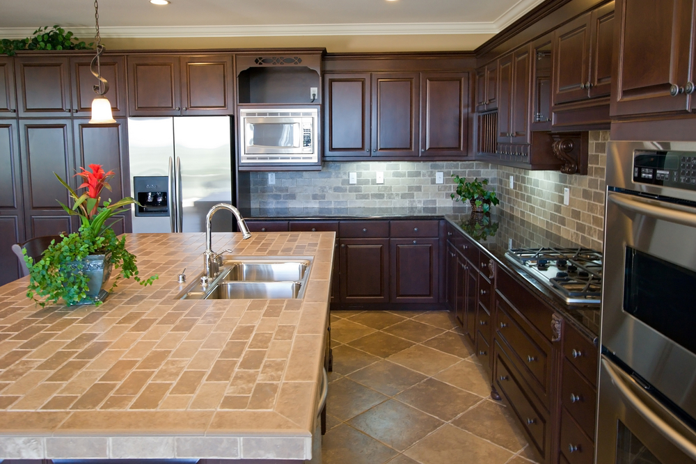tile countertop kitchen backsplash flooring How To Maintain Porcelain & Ceramic Tile