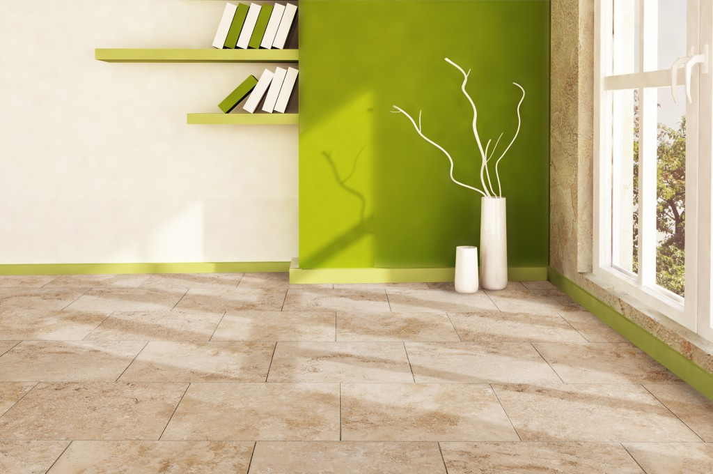 Kesir Travertine Tiles - Honed and Filled Oasis Walnut Premium