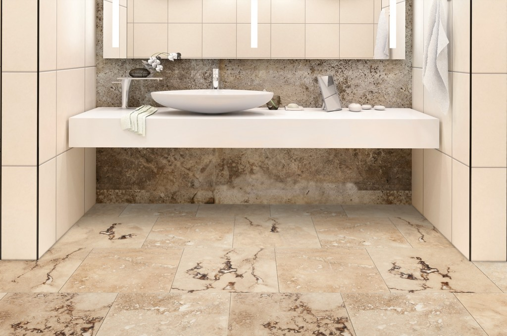 travertine tile bathroom. Chiaro-rustic-honed-and-filled-18x18-room Travertine Tile Bathroom I