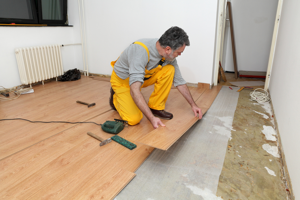 Where can laminate flooring be installed for Flooring installation