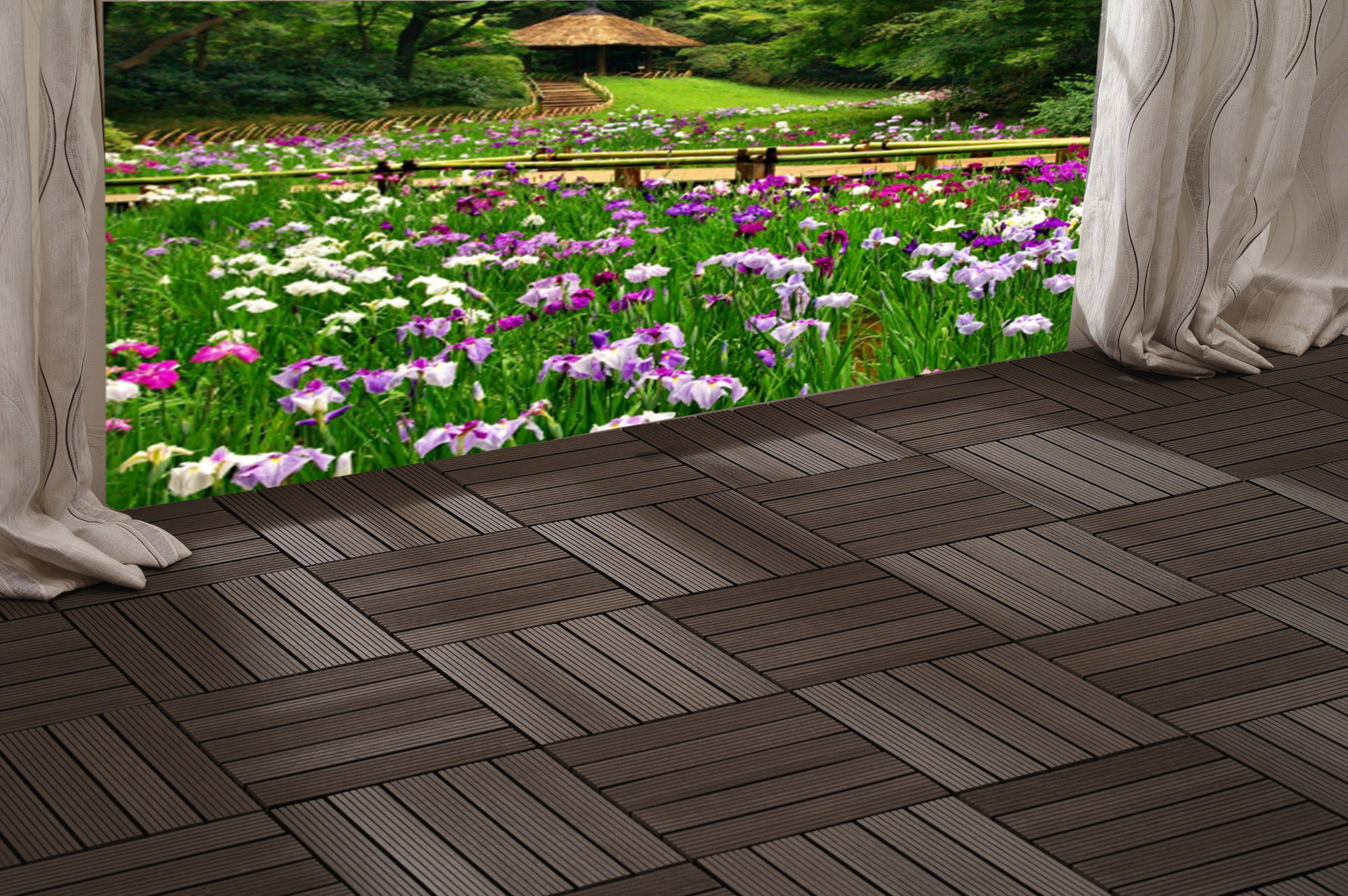 How to install wood or composite deck tiles baanklon Image collections