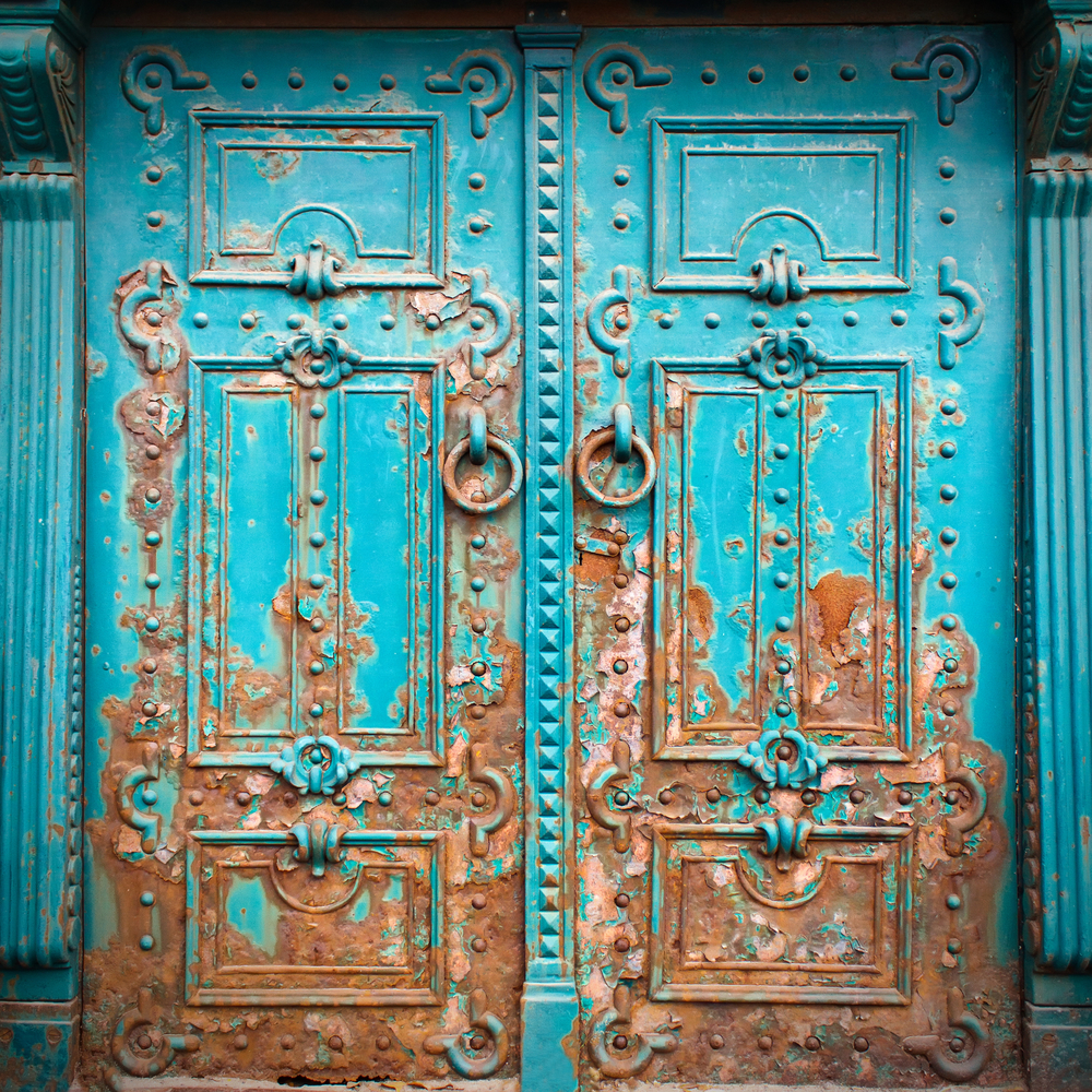 Steel and iron exterior doors