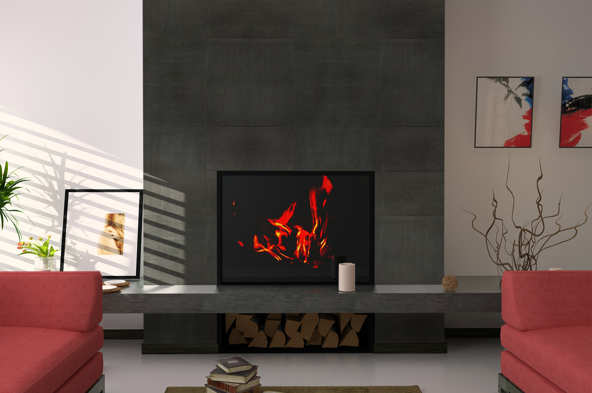 How to install a ceramic or porcelain tile fireplace surround dailygadgetfo Image collections