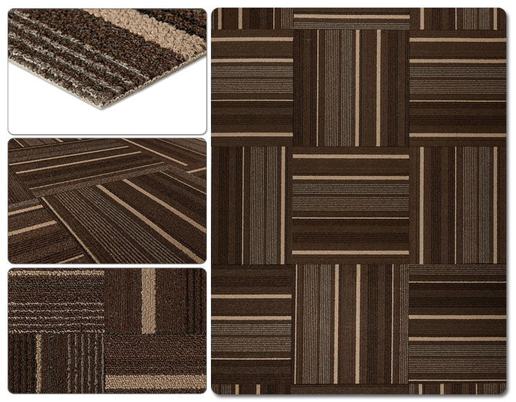 Dante Carpe Ttile Dark Brown Stripe
