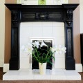 fireplace-with-lilies