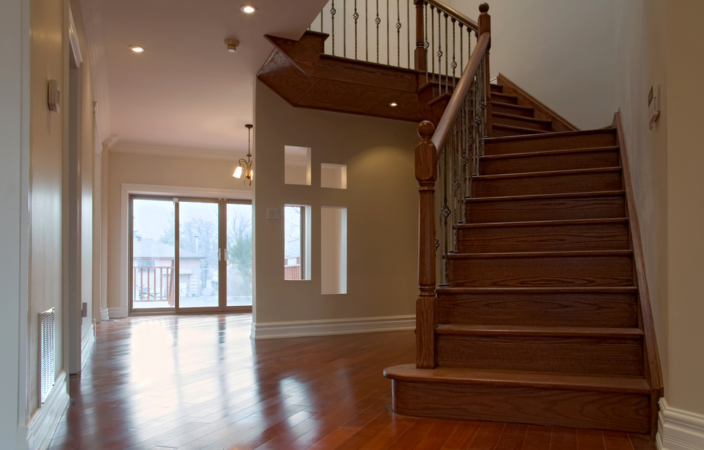 How to install hardwood on stairs for Pre built stairs interior