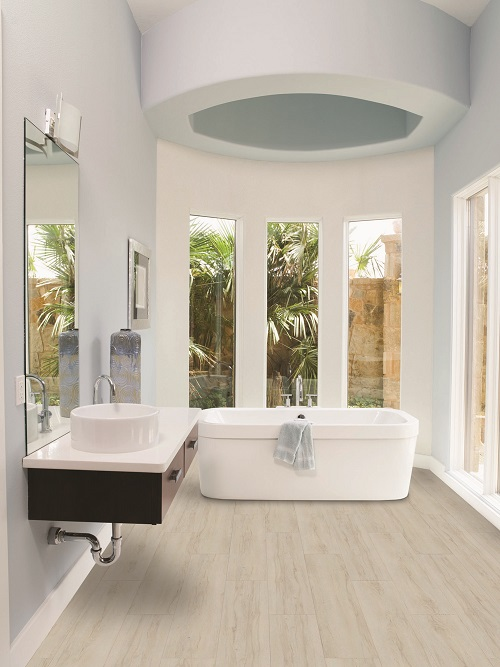 Best Flooring For Bathroom. Vesdura Vinyl Planks Hornbeam White