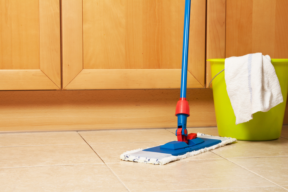 Mop Cleaning Ceramic Tile Floor Amazing Design