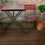 walnut hollow grooved composite decking