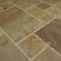 Antique Pattern Brushed, Chiseled, and Partially Filled Travertine
