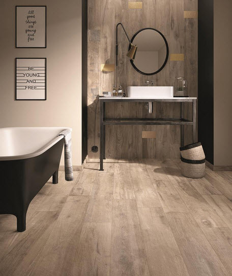 Torino Flexible Italian Porcelain Tile - Rustic Sequoia Collection Sierra Earth