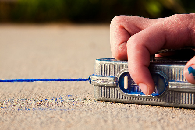 How To Use A Chalk Line When Installing Tile Flooring