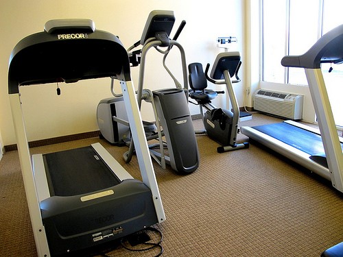 Exercise equipment in a personal gym