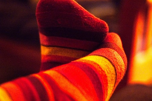 Socks can help keep your feet warm
