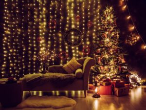 lights living room christmas decor