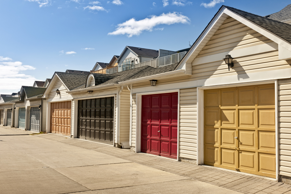 Multi-colored garage doors
