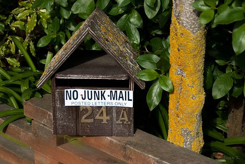"Mail box with ""No Junk Mail"" sign"