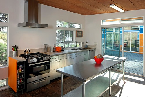 kitchen with eco-friendly countertops