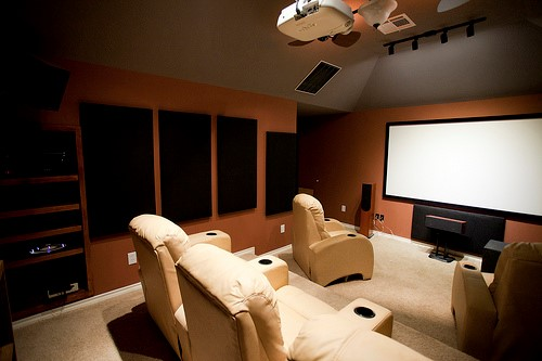 home theater with soundproofing