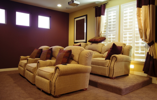 plush seating for home theater