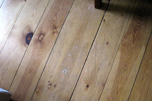 handscraped hardwood via flickr