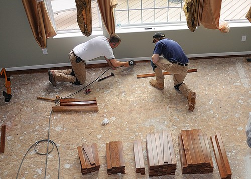 insured to install hardwood flooring