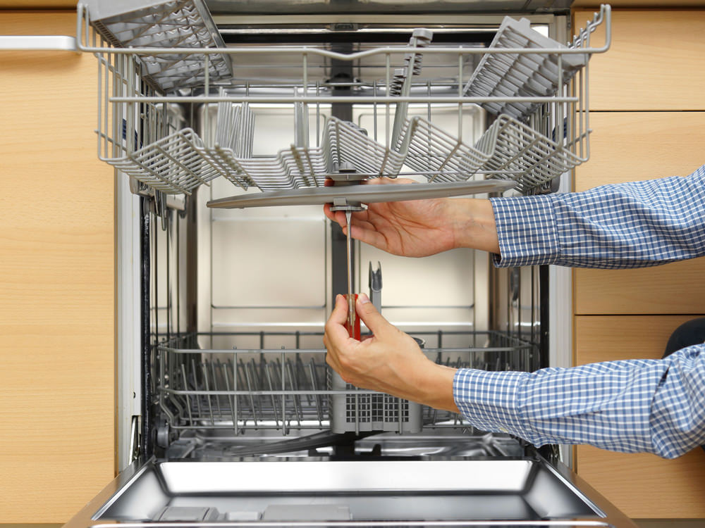 fixing a dishwasher
