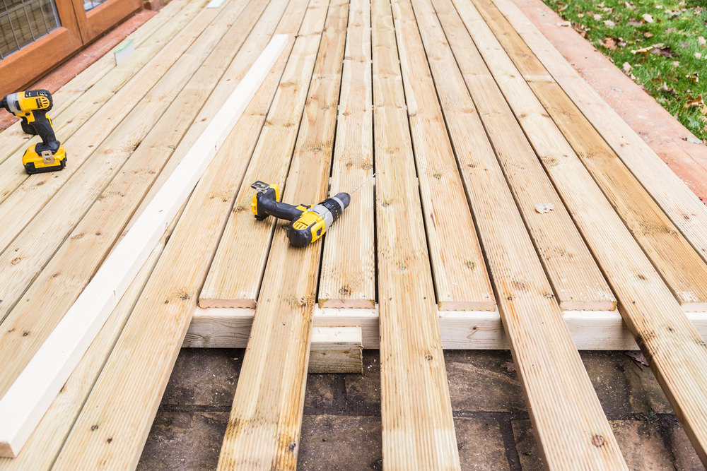 unfinished decking